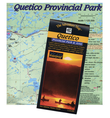 Quetico Park Map on
