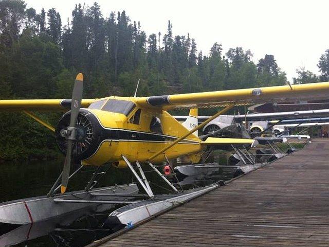 De Havilland Beavers waiting to fly to Quetico canoe trips